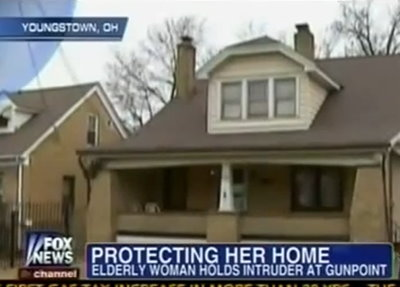 Ohio woman protects her home