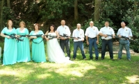 Johnna and her well armed wedding party!