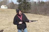 Kathy with .410 pump